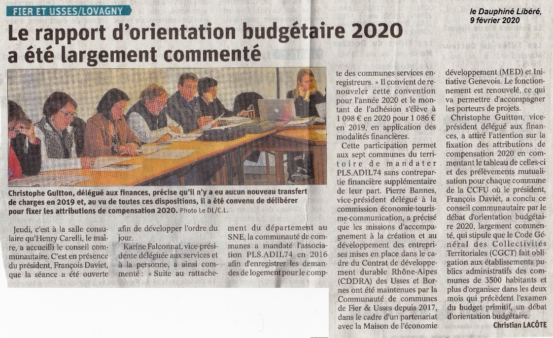 2020 02 09 conseil communautaire a lovagny